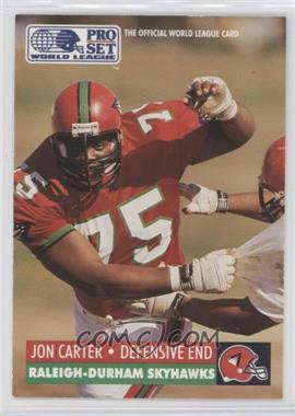 1991 Pro Set WLAF Inserts #25 - Jon Carter