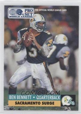 1991 Pro Set WLAF Inserts #28 - Ben Bennett