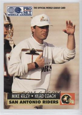 1991 Pro Set WLAF Inserts #30 - Mike Riley