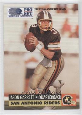 1991 Pro Set WLAF Inserts #31 - Jason Garrett