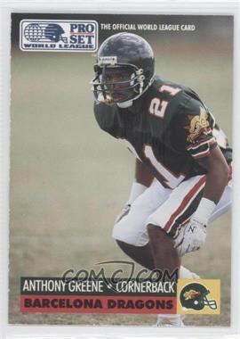 1991 Pro Set WLAF Inserts #5 - Anthony Greene