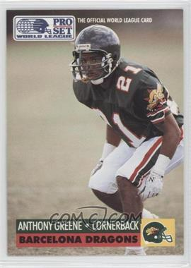 1991 Pro Set WLAF Inserts #5 - Anthony Greene