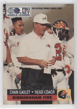 1991 Pro Set WLAF Inserts #6 - Chan Gailey