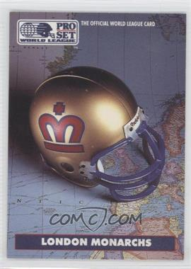 1991 Pro Set WLAF #13 - London Monarchs (WLAF) Team
