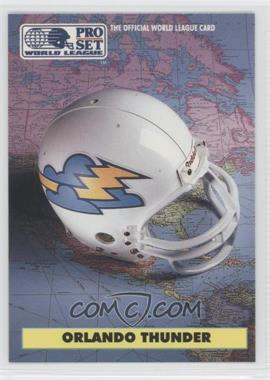 1991 Pro Set WLAF #16 - Orlando Thunder (WLAF) Team