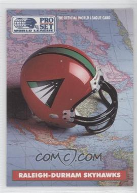 1991 Pro Set WLAF #17 - Raleigh-Durham Skyhawks (WLAF) Team