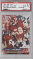 Derrick Thomas Buffalo Bills Helmet on front [PSA 8]