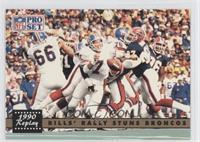 Bills' Rally Stuns Broncos (John Elway) (Error: No NFLPA Logo on Back)