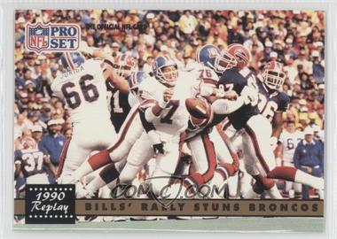 1991 Pro Set #326.2 - Bills' Rally Stuns Broncos (John Elway) (Corrected: NFLPA Logo on Back)