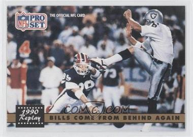 1991 Pro Set #328.2 - Bills Come From Behind Again (Steve Tasker, Jeff Gossett) (Corrected: NFLPA Logo on back)