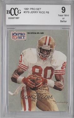 1991 Pro Set #379 - Jerry Rice [ENCASED]