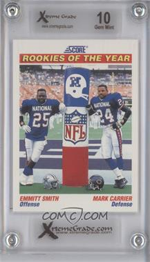 1991 Score - [Base] #675 - Emmitt Smith, Mark Carrier [ENCASED]