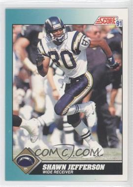 1991 Score Rookie & Traded #67T - Shawn Jefferson