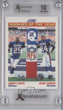 1991 Score #675 - Emmitt Smith, Mark Carrier [ENCASED]