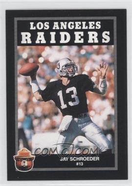 1991 Smokey Bear Los Angeles Raiders #N/A - Jay Schroeder