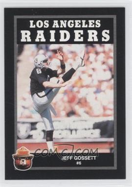1991 Smokey Bear Los Angeles Raiders #N/A - Jeff Gossett