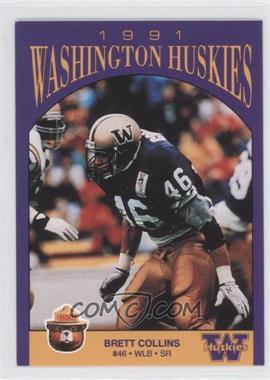 1991 Smokey Bear Washington Huskies - [Base] #N/A - Brett Collins