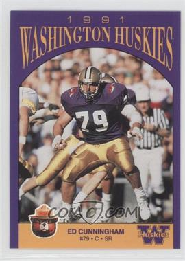 1991 Smokey Bear Washington Huskies - [Base] #N/A - Ed Cunningham