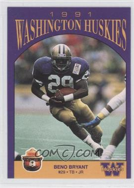 1991 Smokey Bear Washington Huskies #N/A - Beno Bryant