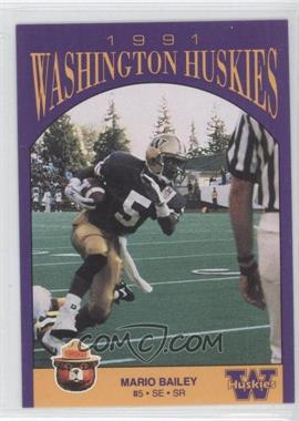 1991 Smokey Bear Washington Huskies #N/A - Mario Bailey