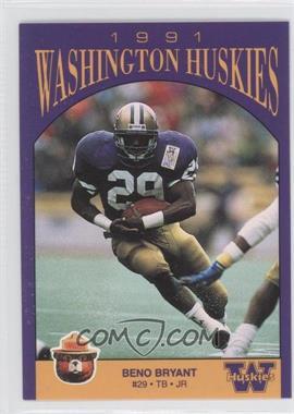 1991 Smokey Washington Huskies #N/A - Beno Bryant