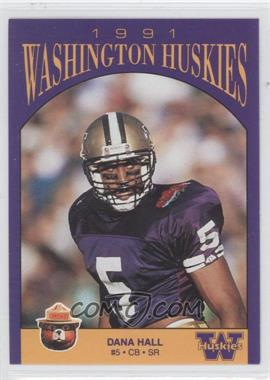 1991 Smokey Washington Huskies #N/A - Dana Hall