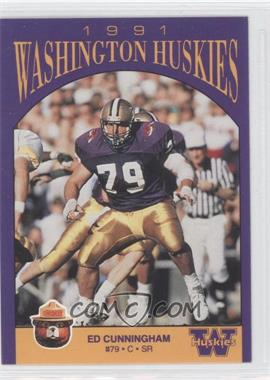 1991 Smokey Washington Huskies #N/A - Ed Cunningham