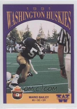 1991 Smokey Washington Huskies #N/A - Mario Bailey