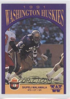 1991 Smokey Washington Huskies #N/A - Siupeli Malamala