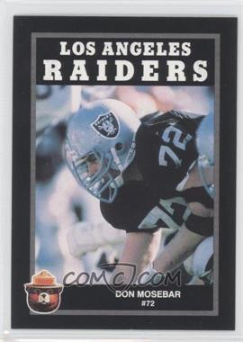1991 Smokey the Bear Los Angeles Raiders #N/A - Don Mosebar