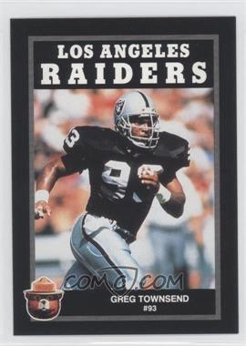 1991 Smokey the Bear Los Angeles Raiders #N/A - Greg Townsend