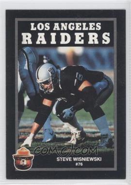 1991 Smokey the Bear Los Angeles Raiders #N/A - Steve Wisniewski