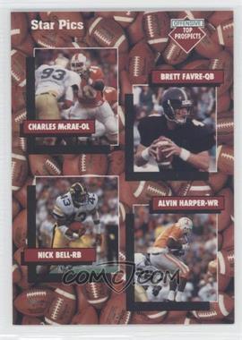 1991 Star Pics #109 - Charles McRae, Nick Bell, Brett Favre, Alvin Harper