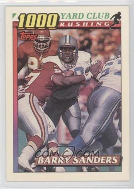 1991 Topps - 1000 Yard Club #2 - Barry Sanders