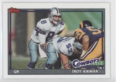 1991 Topps - [Base] #371 - Troy Aikman