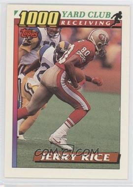 1991 Topps 1000 Yard Club #1 - Jerry Rice