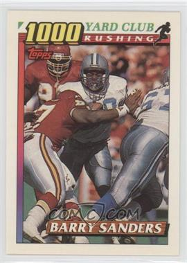 1991 Topps 1000 Yard Club #2 - Barry Sanders