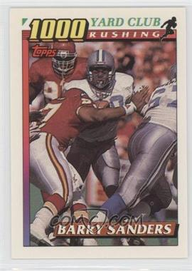 1991 Topps 1000 Yard Club #2 - Barry Sanders
