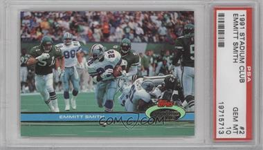 1991 Topps Stadium Club - [Base] #2 - Emmitt Smith [PSA 10]