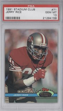 1991 Topps Stadium Club #71 - Jerry Rice [PSA 10]