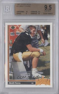 1991 Upper Deck - [Base] #13 - Brett Favre [BGS9.5]