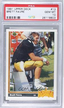 1991 Upper Deck - [Base] #13 - Brett Favre [PSA10]
