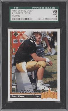 1991 Upper Deck - [Base] #13 - Brett Favre [SGC96]