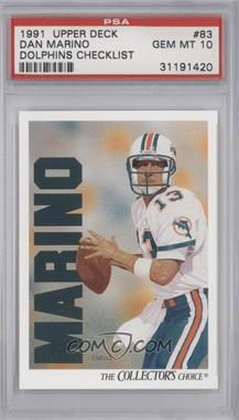 1991 Upper Deck - [Base] #83 - Dan Marino [PSA 10]
