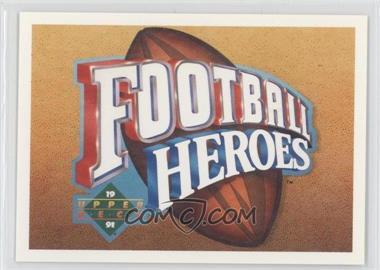 1991 Upper Deck Football Heroes Joe Namath #N/A - Joe Namath