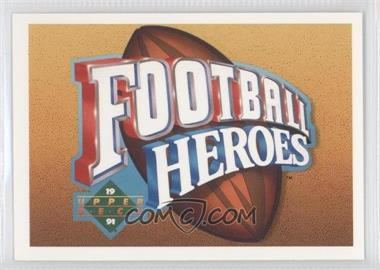 1991 Upper Deck Football Heroes Joe Namath #N/A - Joe Namath