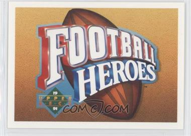 1991 Upper Deck Football Heroes Joe Namath #NoN - Joe Namath