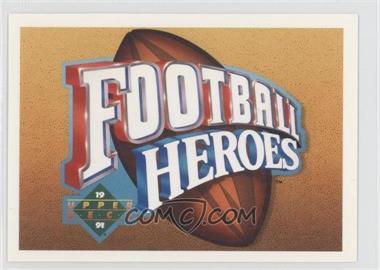 1991 Upper Deck Football Heroes Joe Namath #NoN - Joe Namath