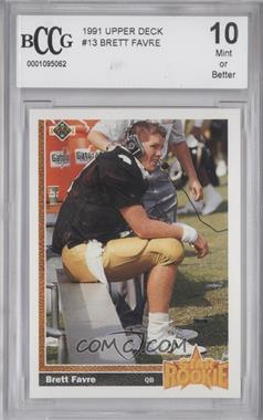 1991 Upper Deck #13 - Brett Favre [ENCASED]