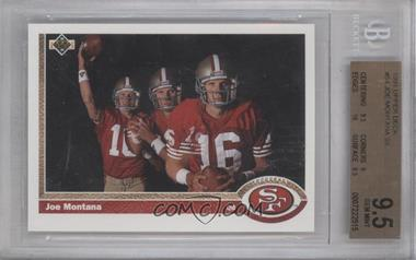1991 Upper Deck #54 - Joe Montana [BGS 9.5]